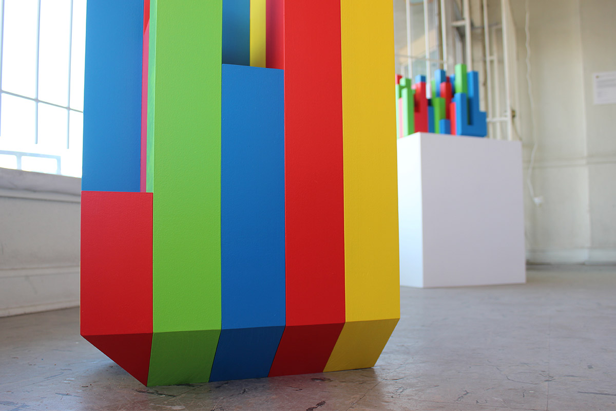 RGB and Sometimes Y, Sudoku Series Sculpture No. 2 (floor detail)