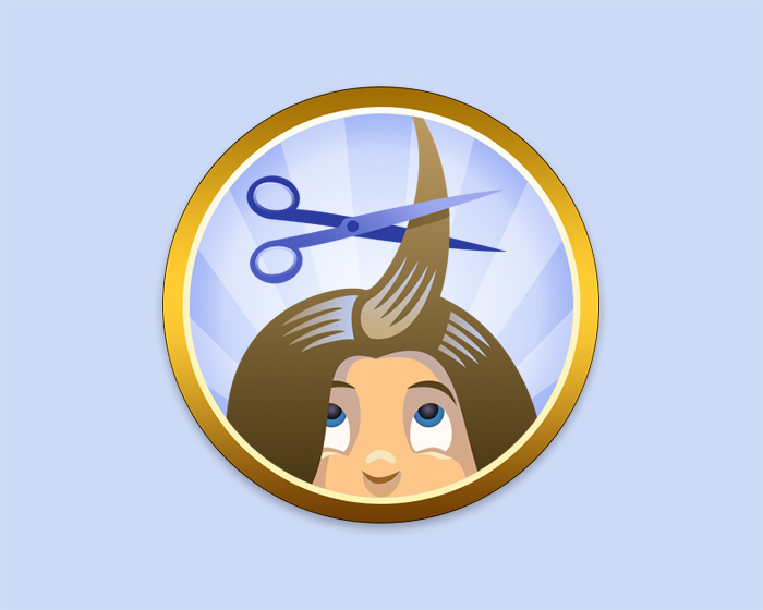 Daddy Camp Haircut Badge