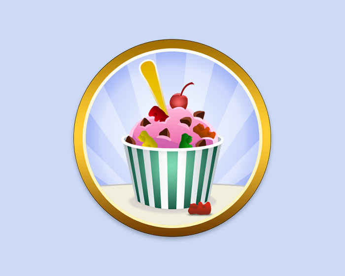 Daddy Camp Ice Cream Badge